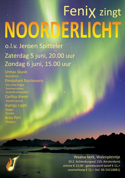 Flyer concerten Noorderlicht