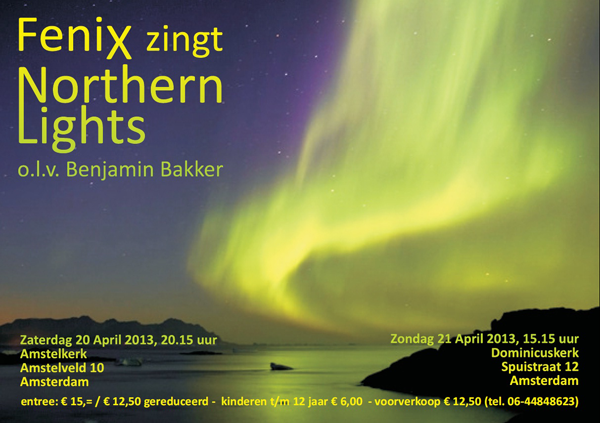 flyer concerten Northern Lights