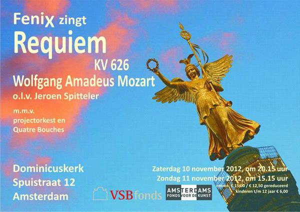 flyer concerten Requiem Mozart
