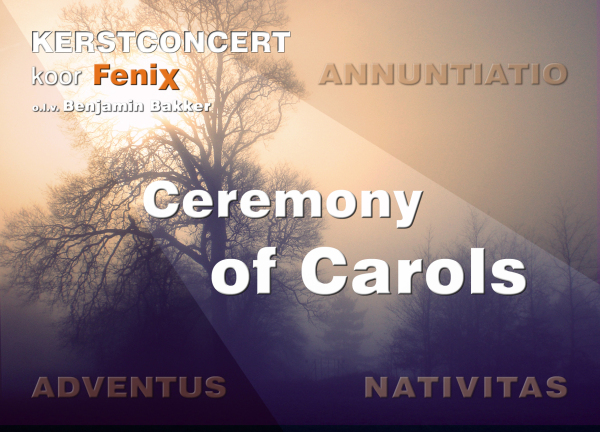 Flyer concerten Ceremony of Carols