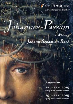 flyer concerten Johannes Passion