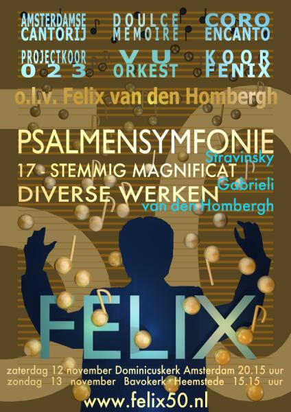 flyer concerten Felix 50