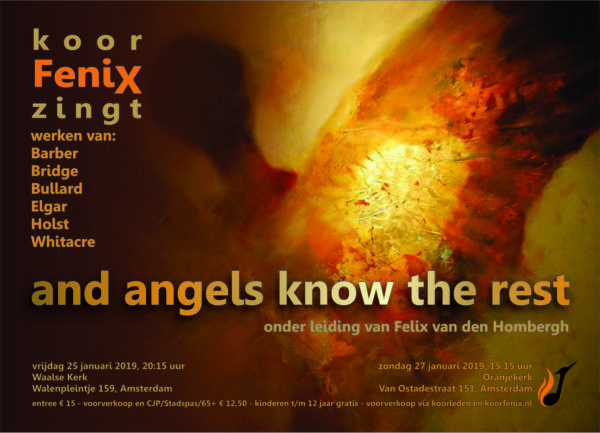 flyer concerten And angels know the rest